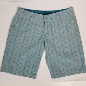 Mossimo Supply 5 Blue Plaid Bermuda Cotton Shorts